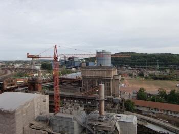 フェルクリンゲン製鉄所の上からの景色